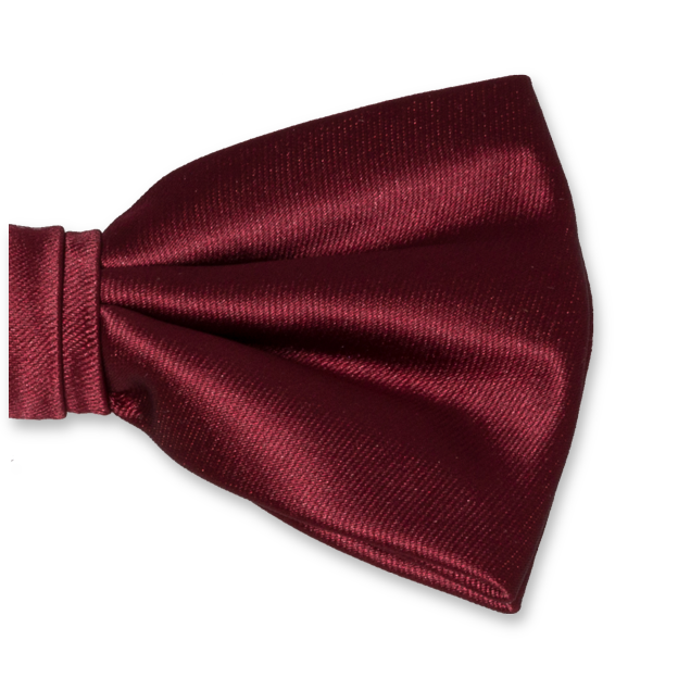 Herrenfliege Bordeauxrot - Polyester Satin (2)