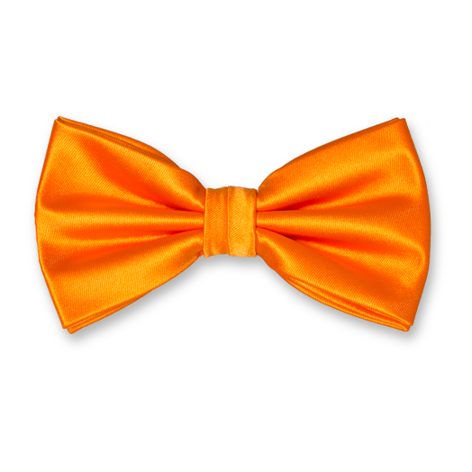 Herrenfliege Orange - Polyester Satin (1)