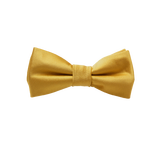 Kinderfliege Gold - Polyester Satin - Thumbnail 1