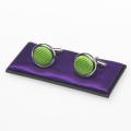 Manschettenknöpfe apfelgrün